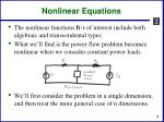 nonlinear equations2