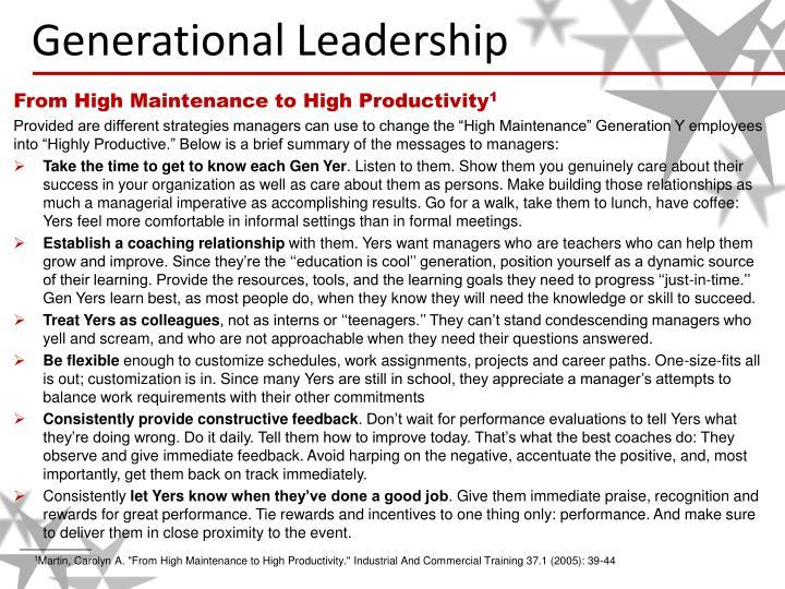 Generational leadership1