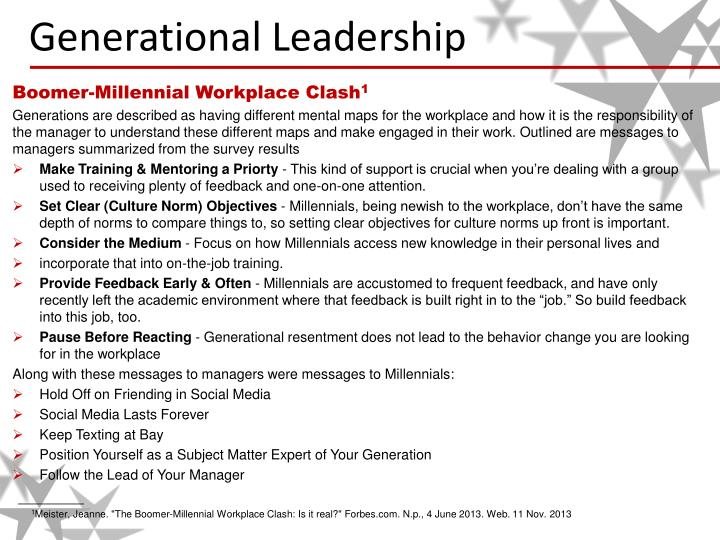 Generational leadership2
