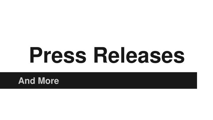 press releases n.