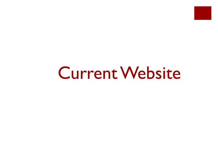 Current Website
