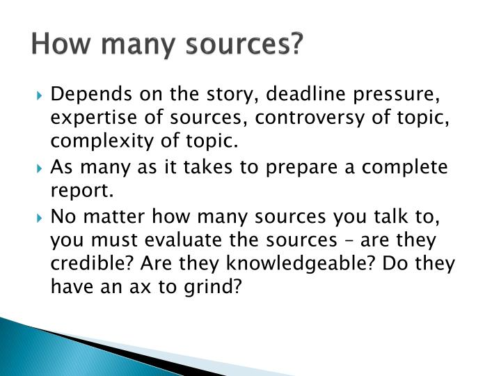 How many sources?