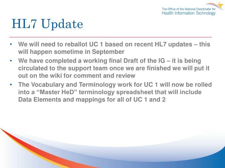 HL7 Update