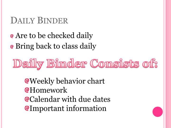 Daily Binder
