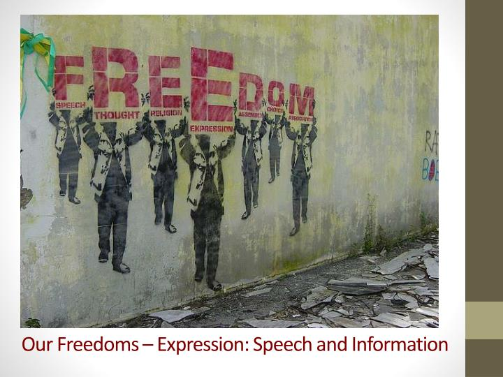 Our freedoms expression speech and information