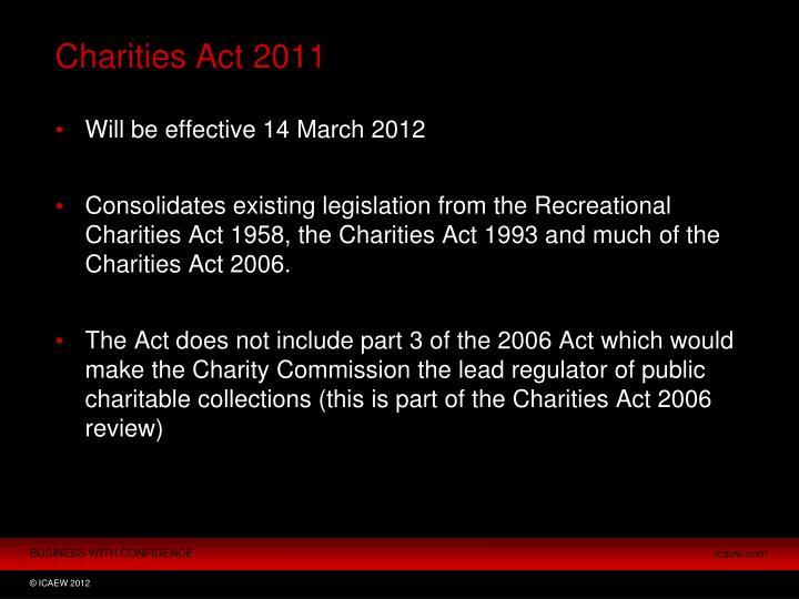 Charities act 2011