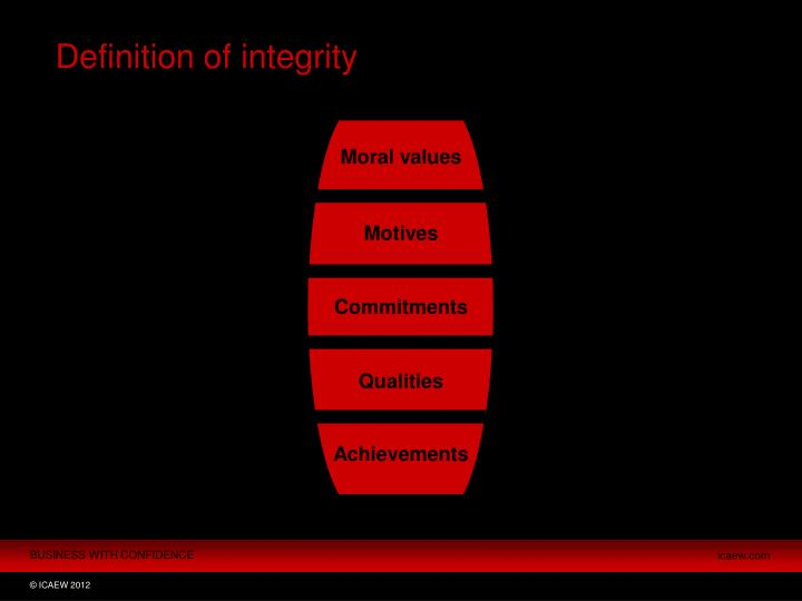 Definition of integrity