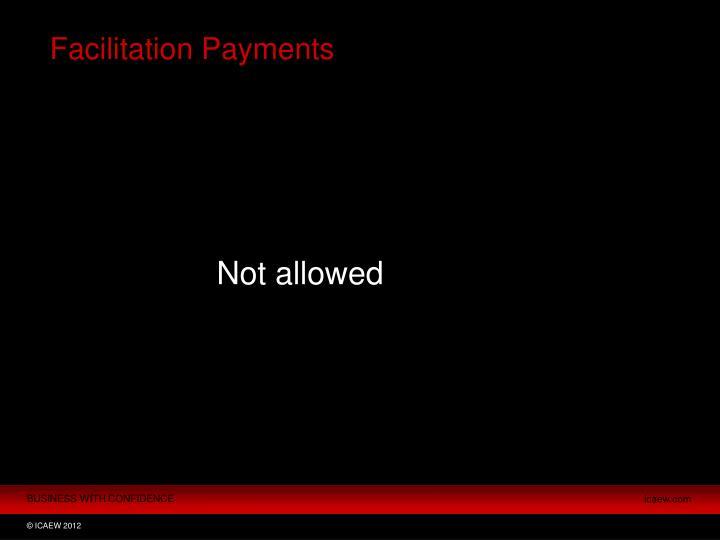Facilitation Payments