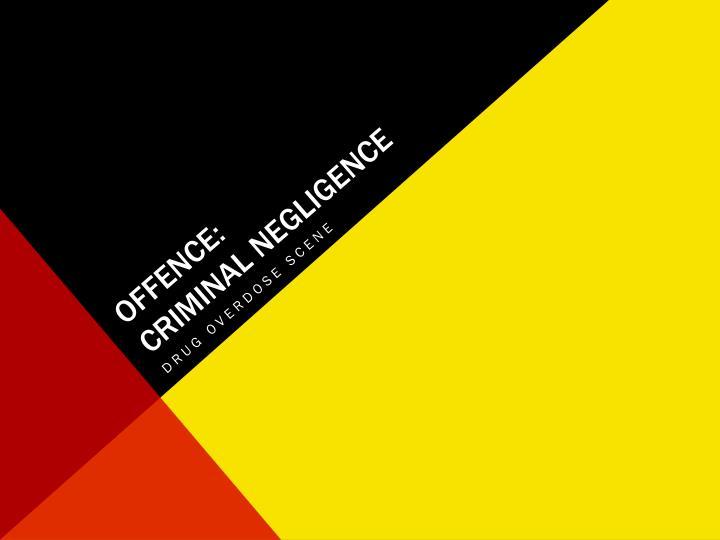 Offence criminal negligence