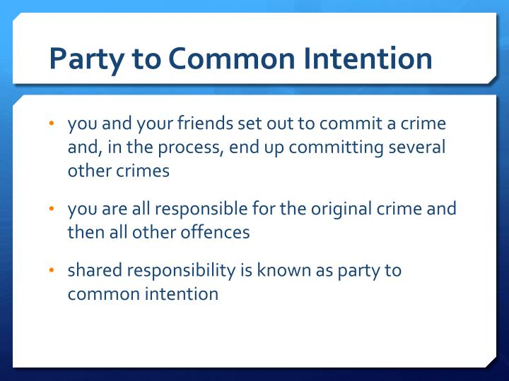 Party to Common Intention