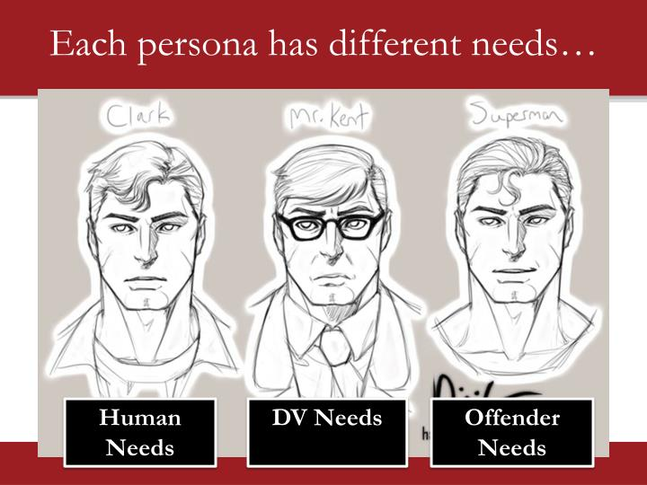 Each persona has different needs…