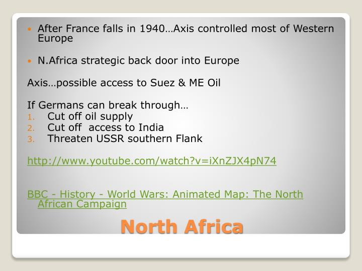 After France falls in 1940…Axis controlled most of Western Europe