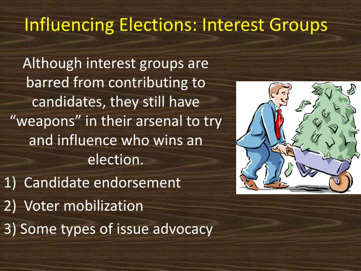 Influencing Elections: Interest Groups
