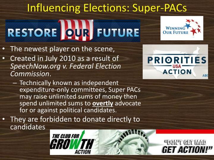 Influencing Elections: Super-PACs