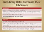 netlibrary helps patrons in their job search1