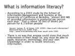 what is information literacy1