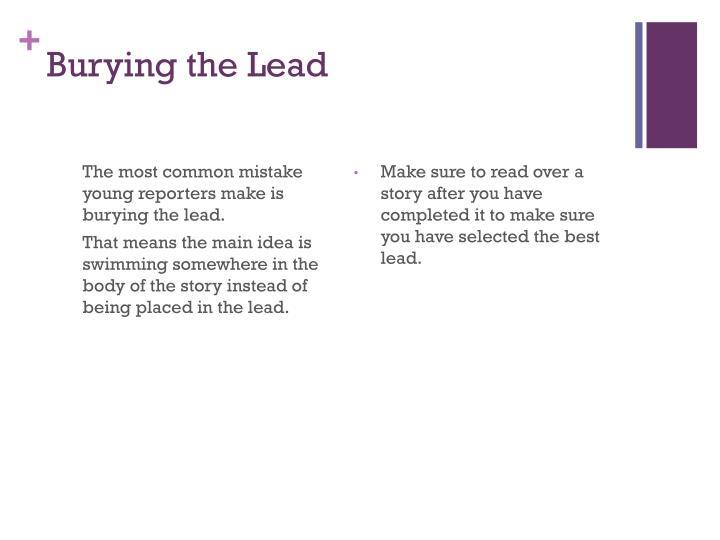 Burying the Lead