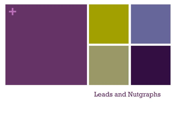 Leads and nutgraphs