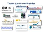 thank you to our premier exhibitors