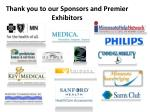 thank you to our sponsors and premier exhibitors