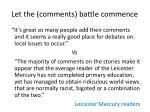 let the comments battle commence