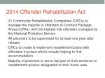 2014 offender rehabilitation act
