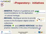 preparatory initiatives