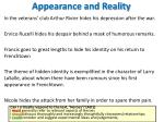 appearance and reality1