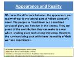 appearance and reality2