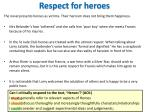 respect for heroes
