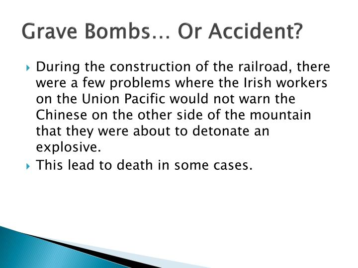 Grave Bombs… Or Accident?