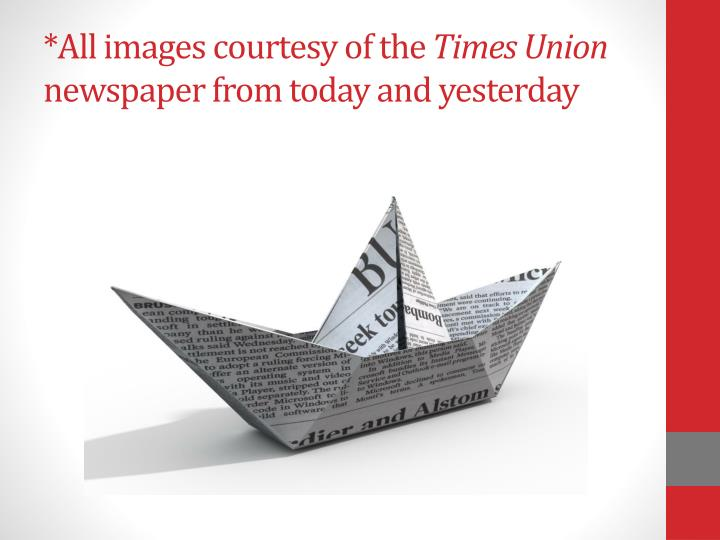 All images courtesy of the times union newspaper from today and yesterday