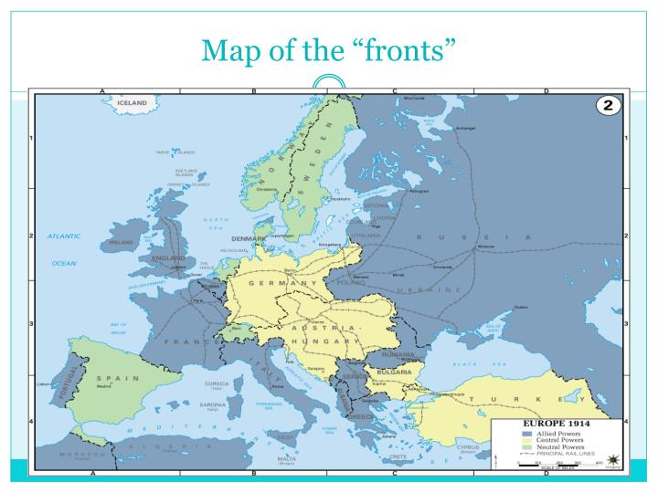 """Map of the """"fronts"""""""