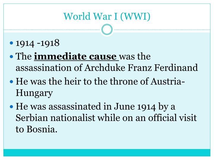 World war i wwi