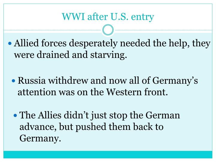 WWI after U.S. entry