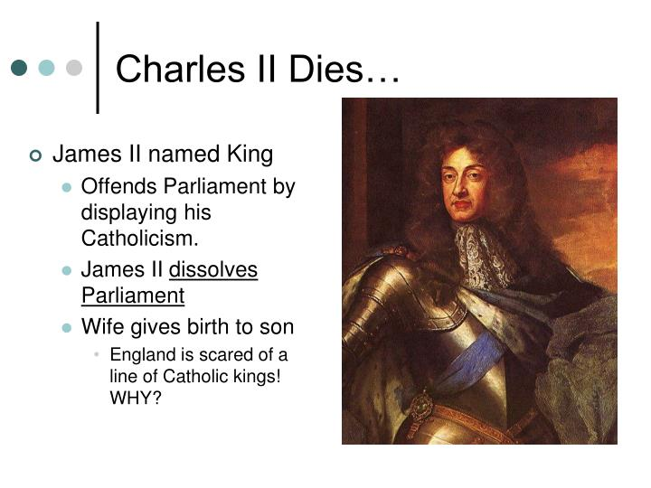 James II named King