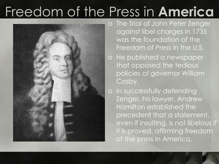 Freedom of the Press in