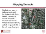 mapping example