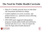 the need for public health curricula