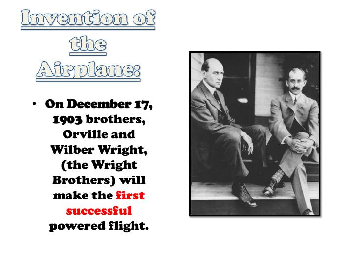 Invention of the Airplane: