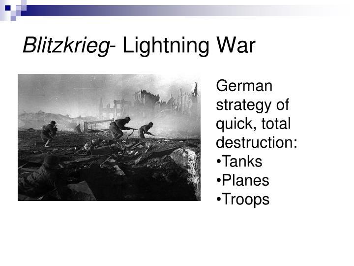 Blitzkrieg lightning war