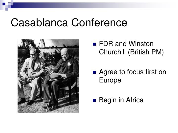 FDR and Winston Churchill (British PM)