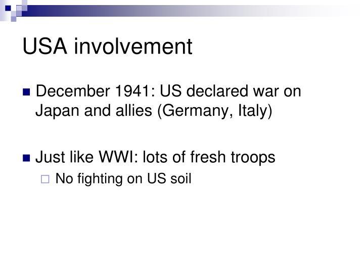 USA involvement