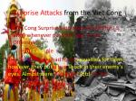surprise attacks from the viet cong