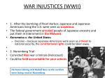 war injustices wwii