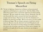 truman s speech on firing macarthur