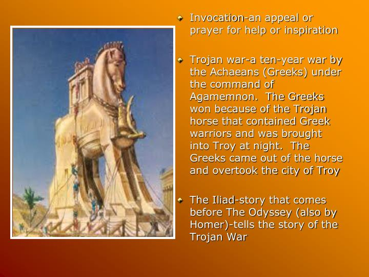 Invocation-an appeal or prayer for help or inspiration