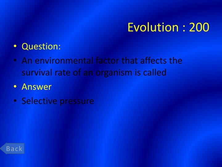 Evolution 200