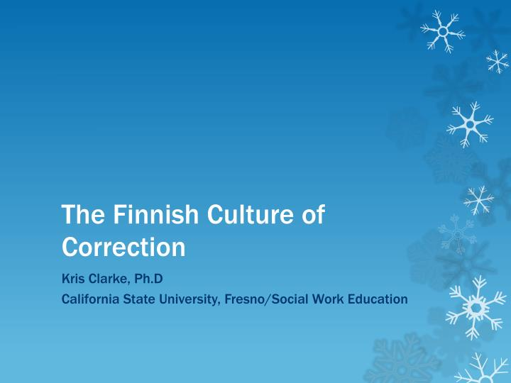 the finnish culture of correction n.