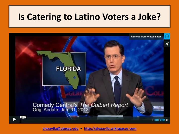 Is catering to latino voters a joke